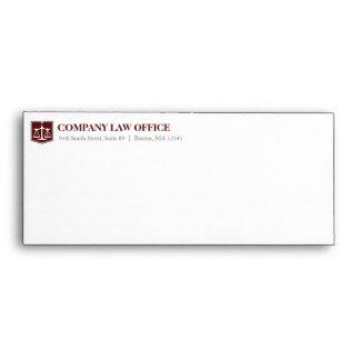 Sobre del profesional del bufete de abogados