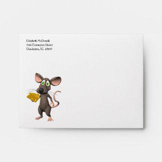 Sobre del ratón A2 del queso del Nacho