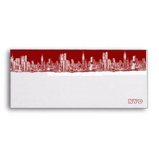 Sobre del rojo de NYC
