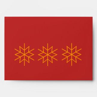 sobre del rojo del diseño gráfico de la estrella d