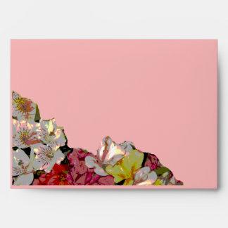 Sobre del rosa del diseño floral del Amaryllis