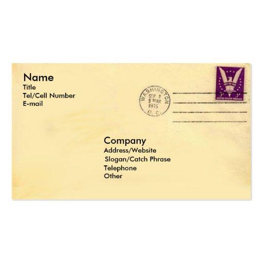 Sobre del vintage plantillas de tarjetas de visita