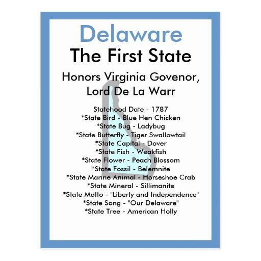 Sobre Delaware Tarjeta Postal