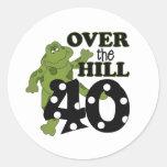 Sobre el 40.o cumpleaños de la colina pegatinas redondas