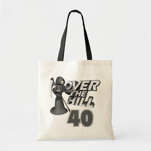 Sobre el 40.o regalo de cumpleaños de la colina bolsa tela barata