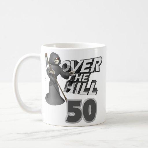 Sobre el 50.o regalo de cumpleaños de la colina taza