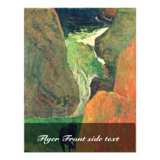 Sobre el abismo de Gauguin Paul (la mejor calidad) Flyer Personalizado