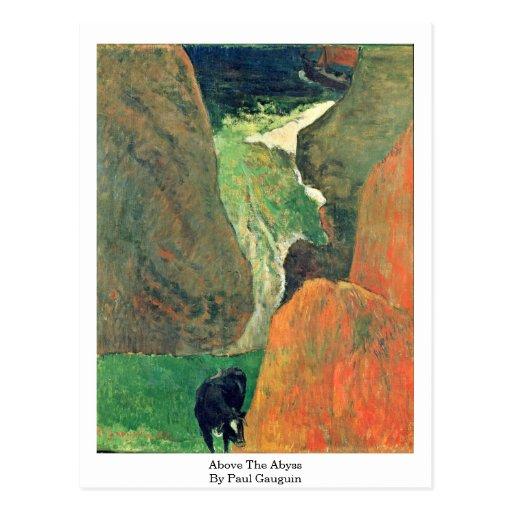 Sobre el abismo de Paul Gauguin Postales