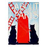 Sobre el anuncio 1895 de París Tarjeta