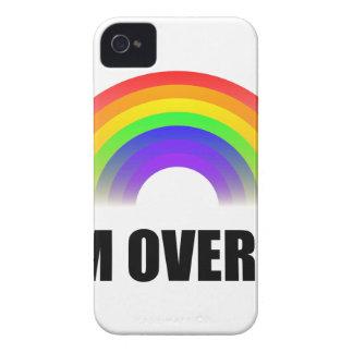 Sobre él arco iris funda para iPhone 4 de Case-Mate