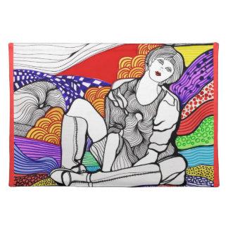 Sobre el arco iris mantel individual