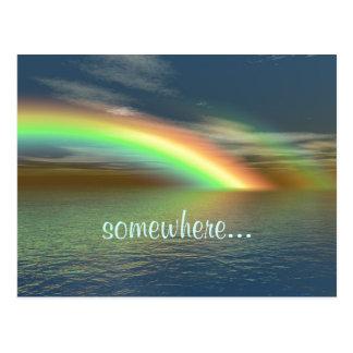Sobre el arco iris postal
