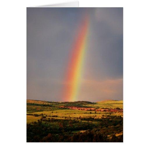 Sobre el arco iris tarjeton