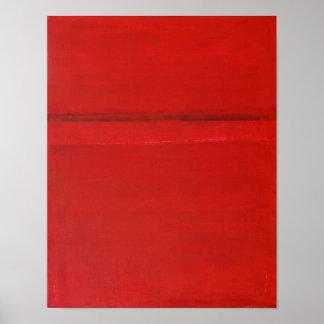 """""""Sobre"""" el arte abstracto rojo superior"""