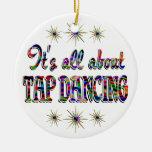 Sobre el baile de golpecito ornaments para arbol de navidad