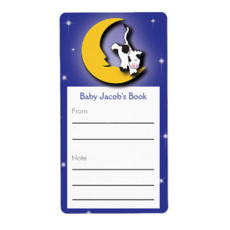 Sobre el Bookplate de la luna el | Etiqueta De Envío