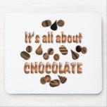 Sobre el chocolate alfombrillas de ratón