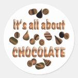 Sobre el chocolate etiqueta