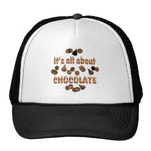 Sobre el chocolate gorros bordados