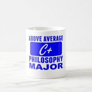 Sobre el comandante medio de la filosofía taza básica blanca