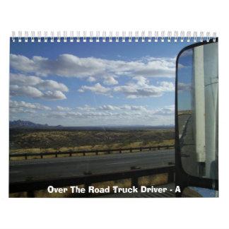 Sobre el conductor de camión del camino - A Calendarios