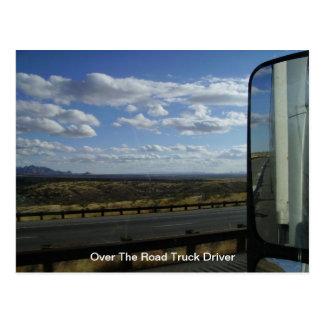 Sobre el conductor de camión del camino postales