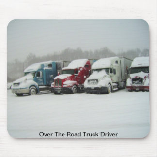 Sobre el conductor de camión del camino tapetes de raton