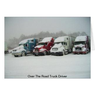 Sobre el conductor de camión del camino tarjeta de felicitación