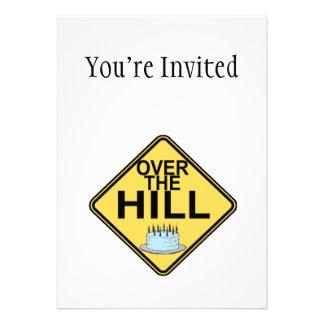 Sobre el cumpleaños de la colina invitación personalizada
