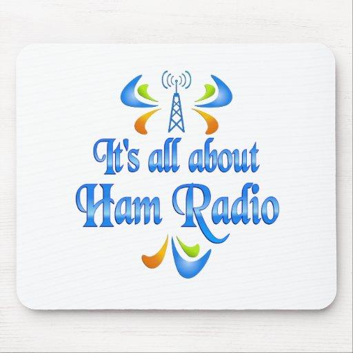 Sobre el equipo de radio-aficionado tapete de ratones