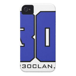 Sobre el logotipo de 30 clanes (azul de iPhone 4 cárcasas