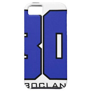 Sobre el logotipo de 30 clanes (azul de iPhone 5 funda