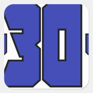 Sobre el logotipo de 30 clanes (azul de pegatina cuadrada