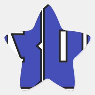 Sobre el logotipo de 30 clanes (azul de pegatina en forma de estrella