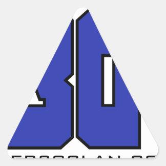 Sobre el logotipo de 30 clanes (azul de pegatina triangular