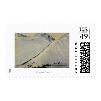 Sobre el paso de Chilkoot durante fiebre del oro, Timbres Postales