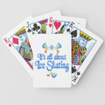 Sobre el patinaje de hielo baraja de cartas