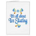 Sobre el patinaje de hielo felicitacion