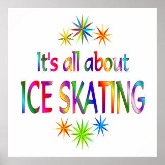 Sobre el patinaje de hielo póster