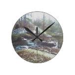 Sobre el reloj del puente