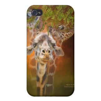 Sobre él todo - caso del arte de la jirafa para el iPhone 4 fundas