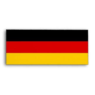 Sobre elegante con la bandera de Alemania