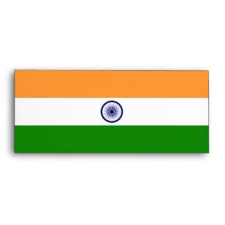 Sobre elegante con la bandera de la India