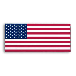 Sobre elegante con la bandera de los E.E.U.U.
