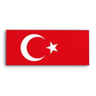 Sobre elegante con la bandera de Turquía