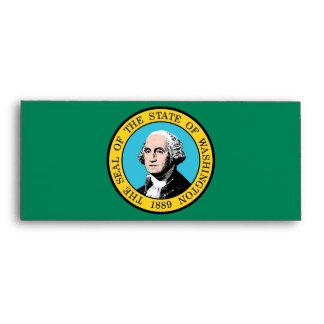 Sobre elegante con la bandera de Washington