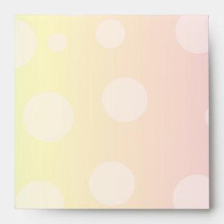 Sobre en colores pastel