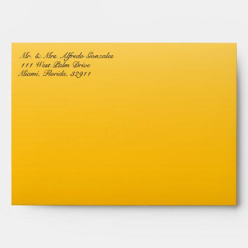 Sobre enrrollado del amarillo de la impresión de l