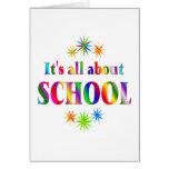 Sobre escuela felicitación