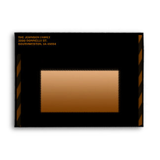 Sobre espeluznante negro anaranjado de la